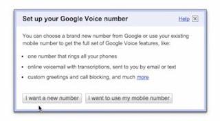set up a google voice number