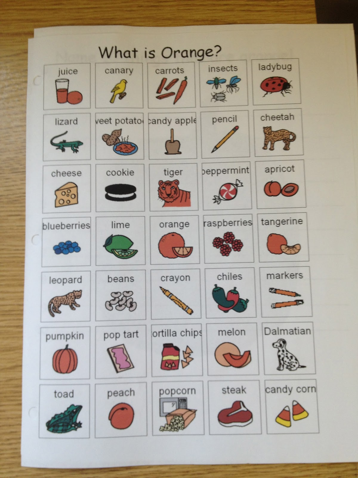 Autism Tank More Halloween Worksheets