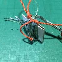 タッセルの作り方5_糸をまとめる