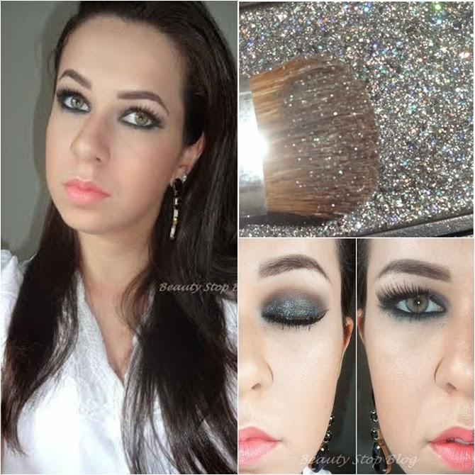 maquiagem preta com glitter