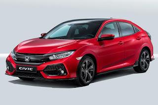Honda Civic Hatchback (2017 European Spec) Front Side
