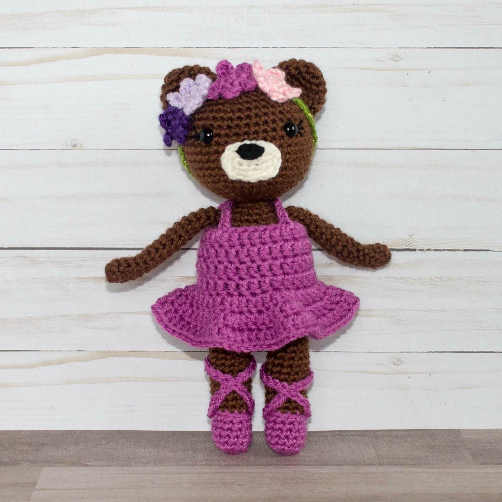 Crochet Doll Animals : Mini Ballerina Animal Crochet Dolls - The Friendly Red Fox