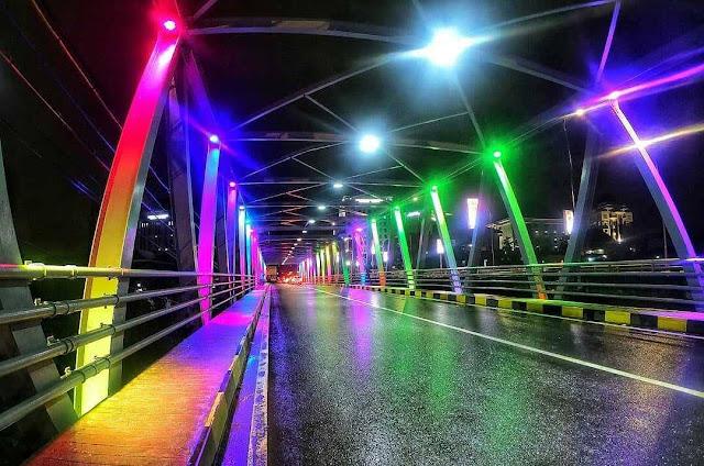 Jembatan Suhat Malam Hari
