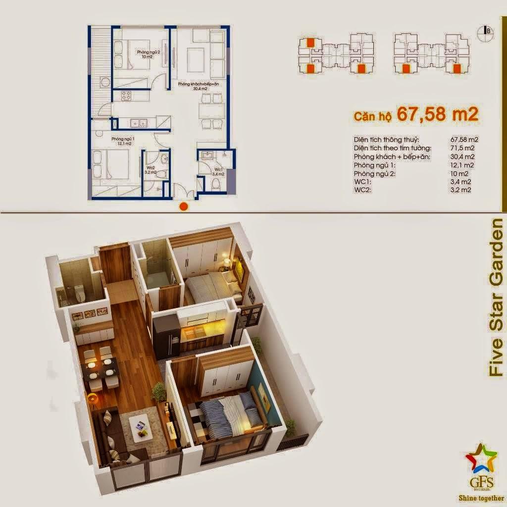 Căn 67,58 m2