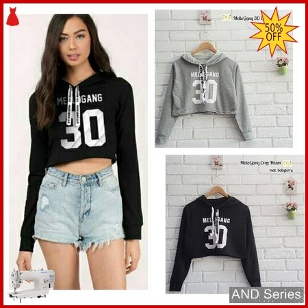 AND280 Baju Atasan Wanita Kaos Mellogang Crop BMGShop