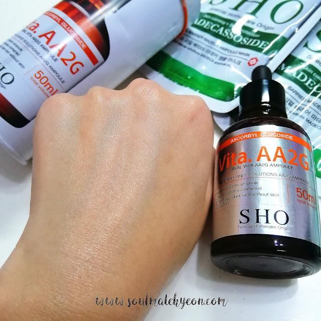Review; SHO's Real Vita. AA2G Ampoule