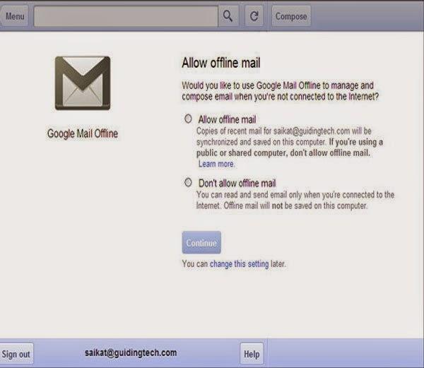 5. Gmail Offline -