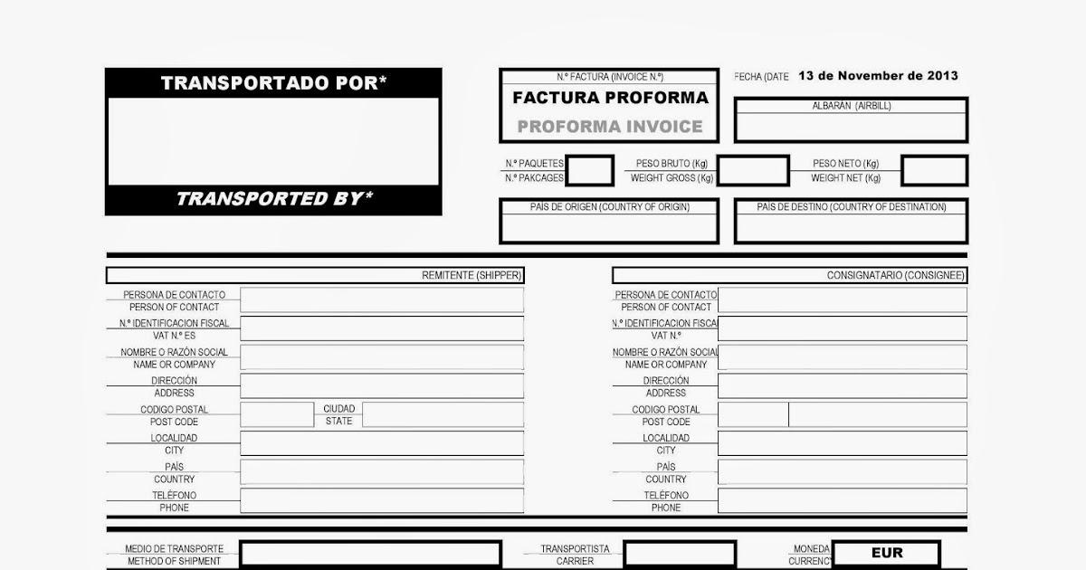 Aduaneros en Acción: Modelo de factura de Aduanas Español