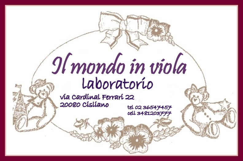 IL MONDO IN VIOLA laboratorio