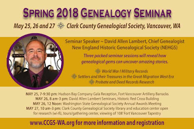 Clark County Genealogical Society Spring Conference