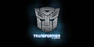 metallic transformers logo design