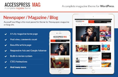 acess press mag wordpress template free 2017