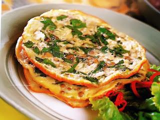 Gambar Resep Omelet Telur Bayam Kacang Hijau