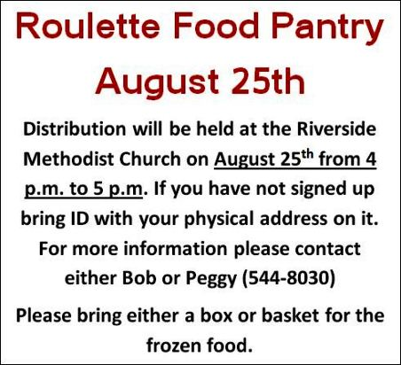 8-25 Roulette Food Pantry