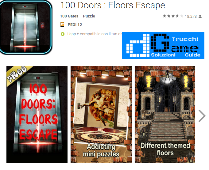 Soluzioni 100 Doors Escape Floors livello 41-42-43-44-45-46-47-48-49-50 | Trucchi e Walkthrough level