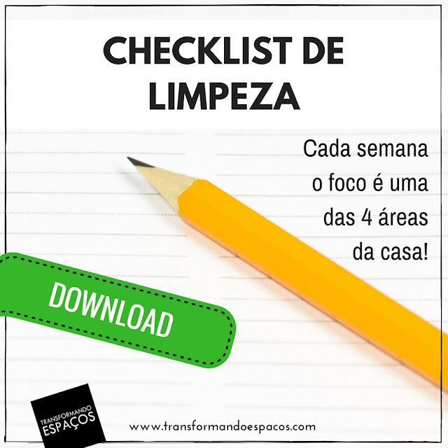 Checklist de Limpeza e Organização da Casa