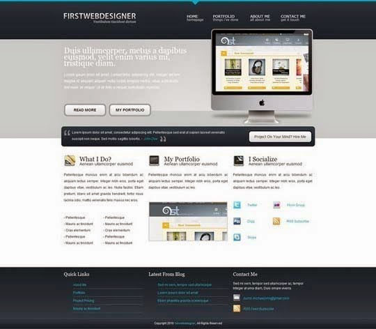 Convert 1stDelicious Portfolio Layout From PSD to HTML