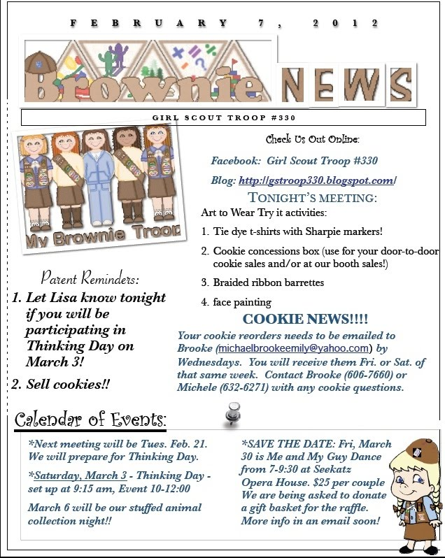 I am Girl Scouts iamgirlscouts Newsletter Template Now Available.