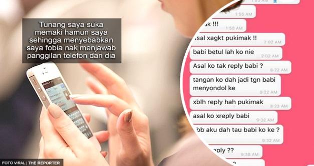 """""""Asal Ko Tak Reply Babi?!"""" - Ini Mesej Dari Si Tunang"""
