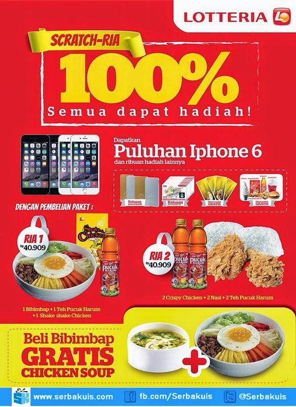 Promo Lotteria Scratch Ria Berhadiah Puluhan iPhone 6