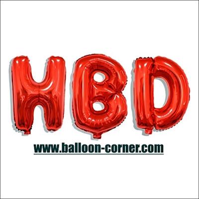 Balon Foil Huruf HBD Warna Merah