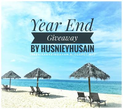 Rebut hadiah menarik sempena Year End Giveaway by Husnieyhusain!