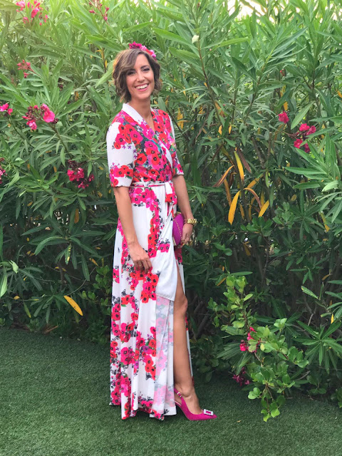 Fitness And Chicness-Look Invitada Boda Vestido Largo Flores-8