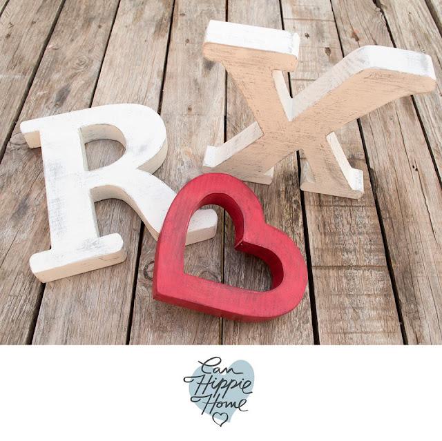 Artesanos de letras de madera: Can Hippie Home-3