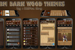 Download BBM Dark Wood Themes v2.1.1 Based BBM Official Versi 3.3.0.16 by Mifta Hry