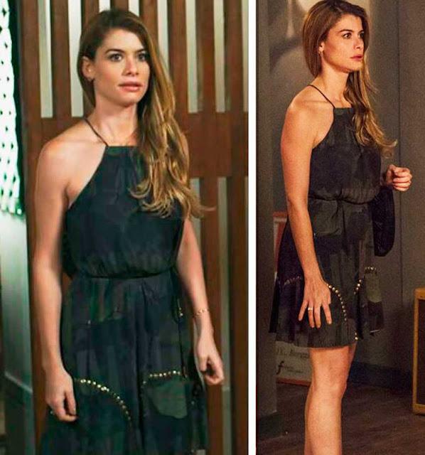 Diana (Aline Moraes) Vestido estampado em Rock Story