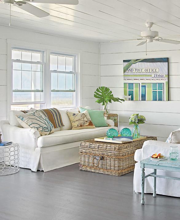 Seashore Home Decor: Decoración Fácil: UNA CONFORTABLE CASA EN LA PLAYA