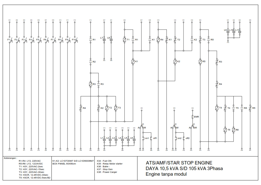 Wiring Diagram Ats Genset