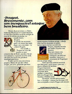 propaganda bicicleta Peugeot - 1977; brazilians car in the 70s; reclame de carros anos 70. brazilian advertising cars in the 70. os anos 70. história da década de 70; Brazil in the 70s; propaganda carros anos 70; Oswaldo Hernandez;