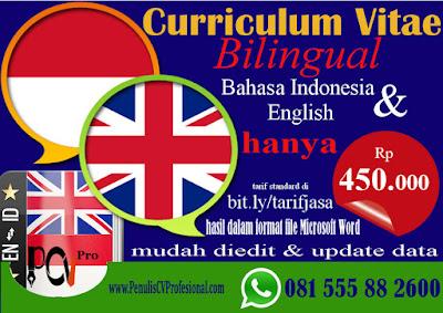 Jasa Pembuatan CV English
