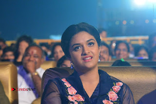 Actress Keerthi Suresh Stills in Blue Long Dress at Nenu Local Audio Launch  0063.JPG