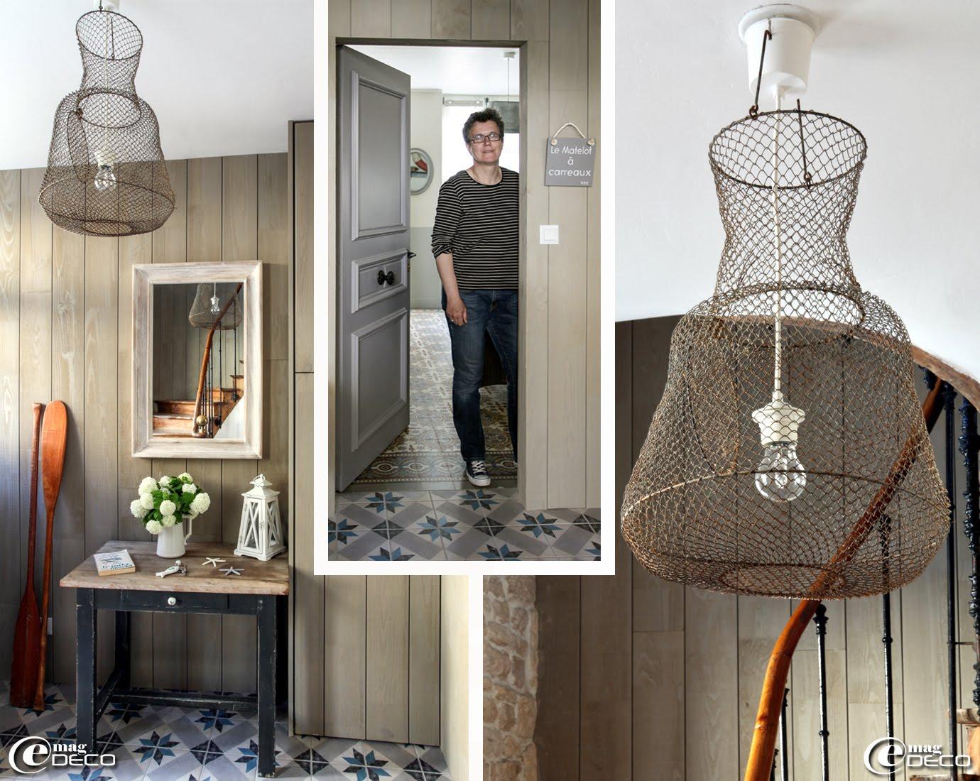 papier peint imitation lambris gris. Black Bedroom Furniture Sets. Home Design Ideas