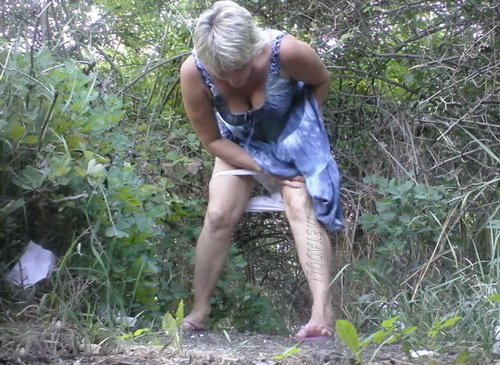 PissHunters 9316-9331 (Girls pee outdoors hidden camera. Hidden cam in public toilet)