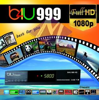 احدث ملف قنوات عربى لرسيفر B4U CLASSIC 999 HD  بتاريخ 1-5-2019
