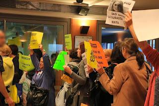Protesta de trabajadoras del SAD