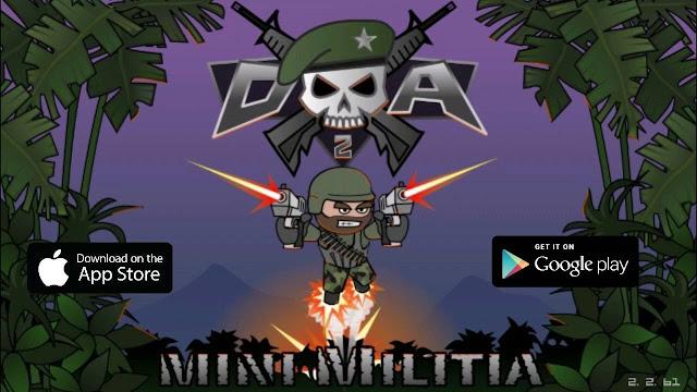 لعبه حربيه جماعيه بدون انترنت تلعبها مع اصدقائك Mini Militia - Doodle Army 2