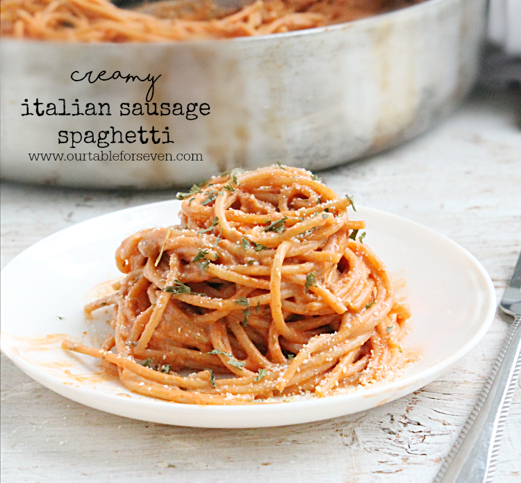 Creamy Italian Sausage Spaghetti