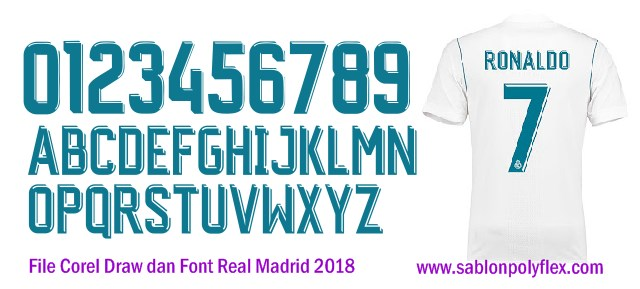 Download Gratis File Corel Draw Font Jersey Real Madrid 2018