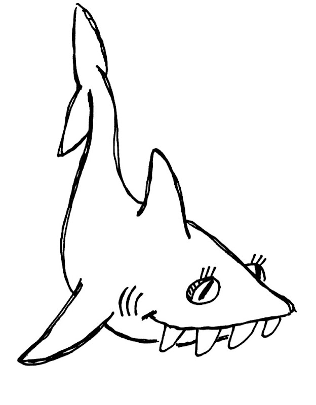 Shark Coloring Pages To Print Animals (10 Image ...