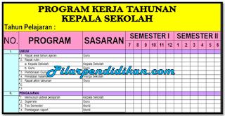Contoh Program Kerja Kepala Sekolah Tk Barisan Contoh