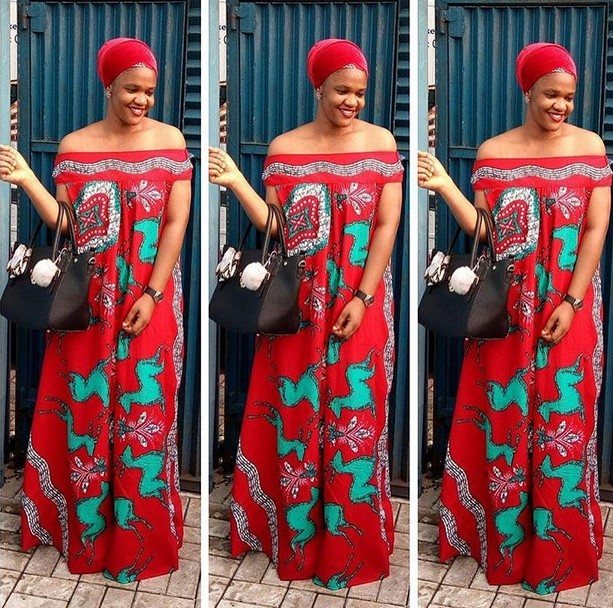 Off Shoulder Boubou Ankara Gown Styles For Lovely Ladies Zaineeys