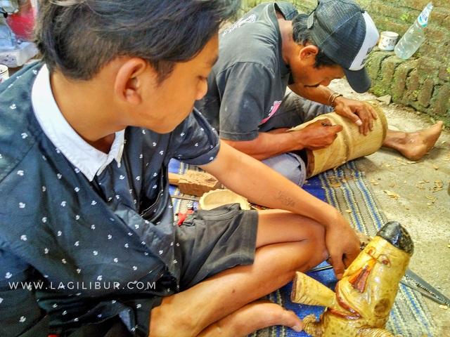 Kerajinan Bambu Desa Wisata Sanankerto