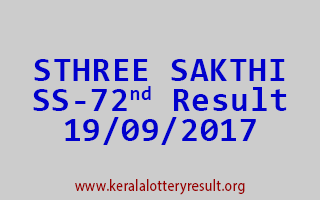 STHREE SAKTHI Lottery SS 72 Results 19-9-2017