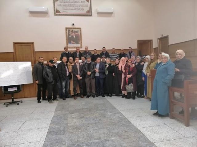 المكتب المحلي للنقابة الديمقراطية للعدل ببرشيد يعقد جمعه العام