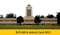 BITS MCA Admit Card