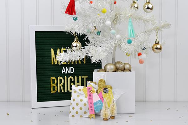 White mini christmas tree with www.jengallacher.com #christmastree #whitetree #christmascraft